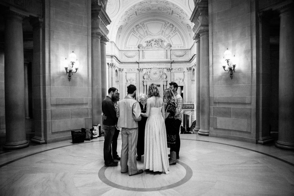 San Francisco City Hall intimate wedding photography by Misti Layne