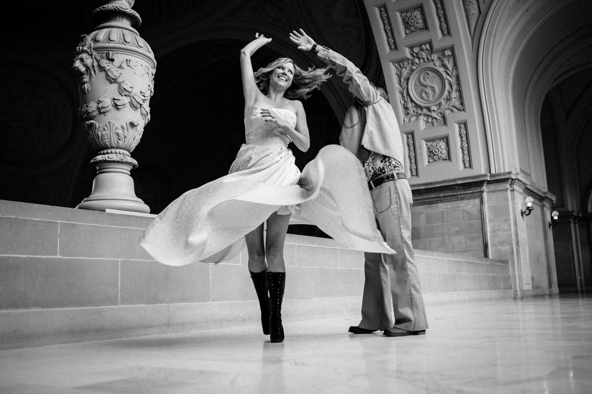 City Hall Wedding in Grandma's Dress | San Francisco Wedding Photography