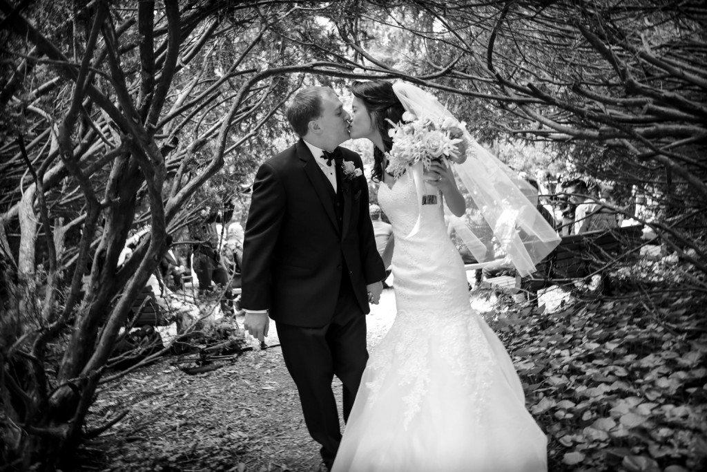 Bride-Groom-Kissing-Golden-Gate-Park-Wedding-Misti-Layne