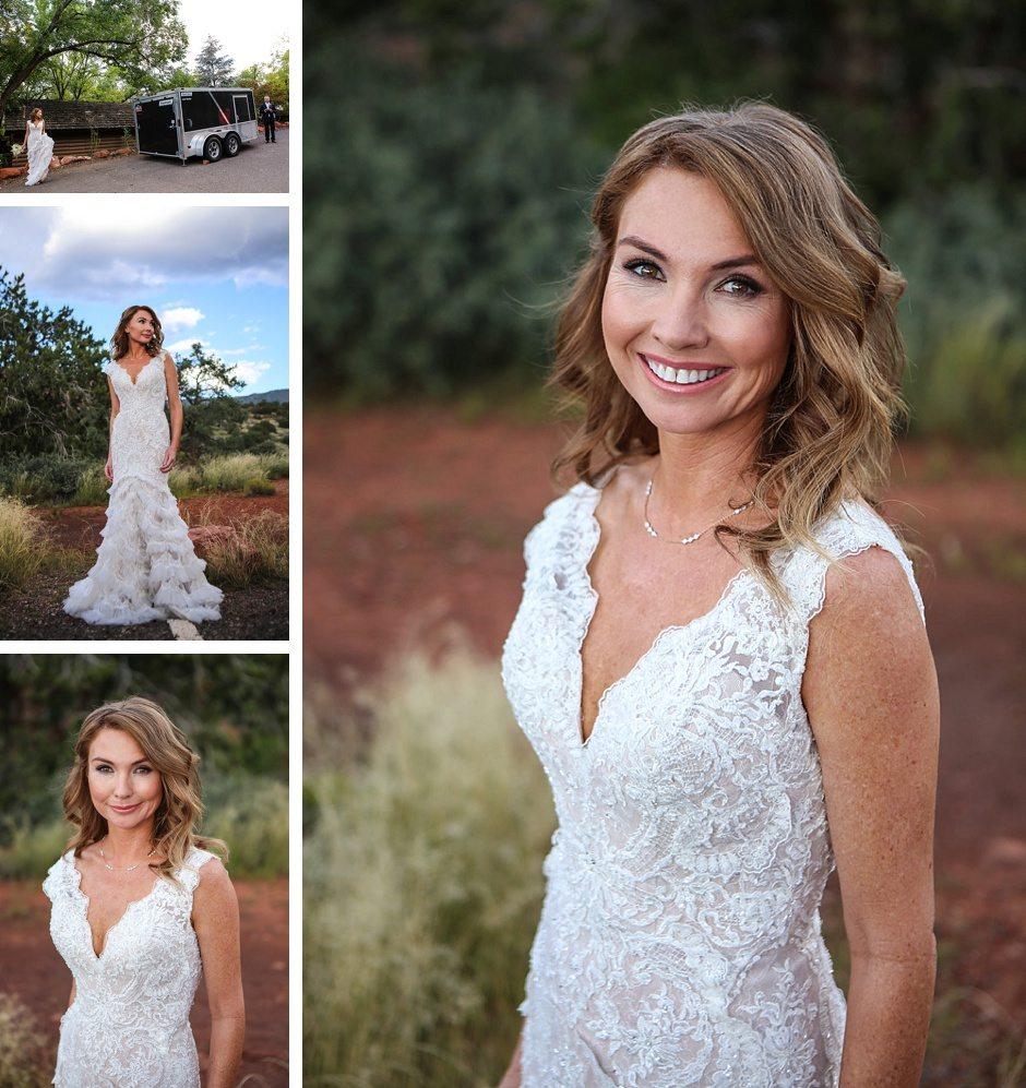 Sedona destination wedding bride and groom