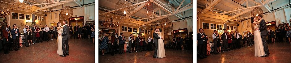 bride and groom first dance in banrdiva hall