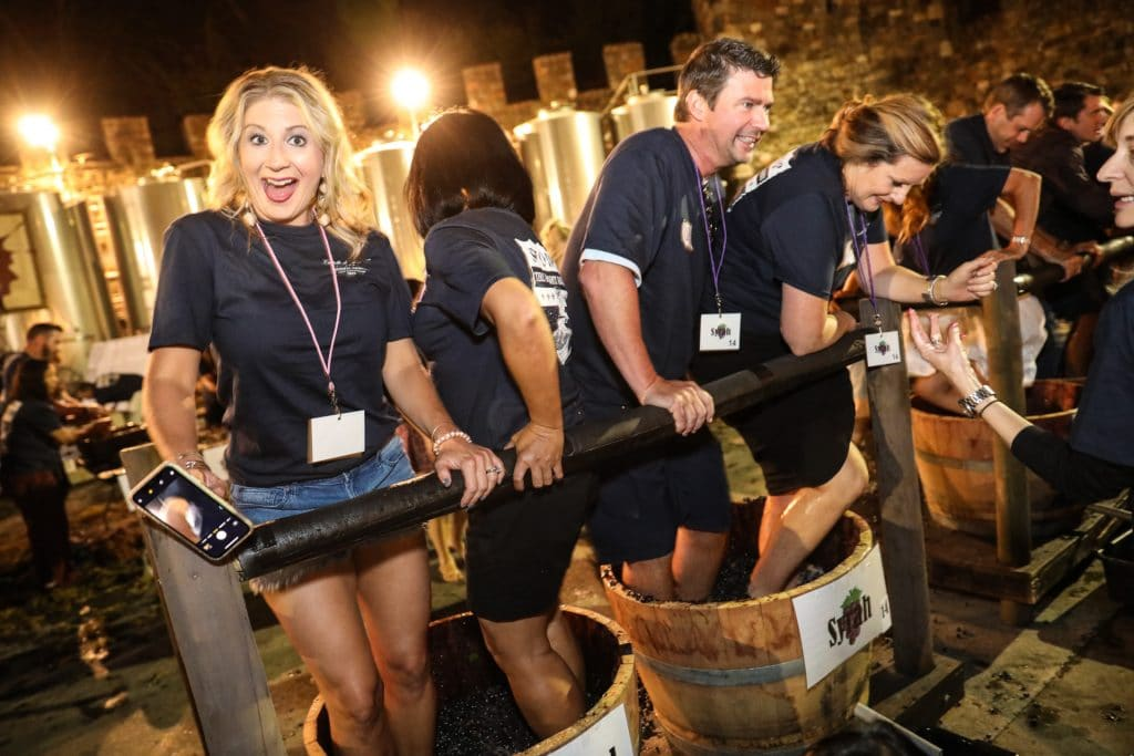 Napa grape stomp Misti Layne event photographer
