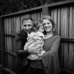 family portraits at home backyard family photographs San Francisco Misti Layne photographer